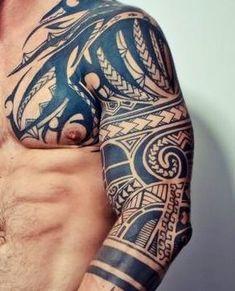 Bildergebnis für – My World Tribal Shoulder Tattoos, Tribal Tattoos For Men, Mens Shoulder Tattoo, Tribal Sleeve Tattoos, Tattoos For Guys, Polynesian Tattoo Designs, Maori Tattoo Designs, Tattoo Sleeve Designs, Tattoo Tribal Brazo