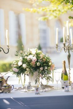 french wedding inspiration from chateau la durantie wedding reception flowerswedding reception decorationsfrench