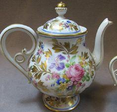 Limoges Floral Tea Pot
