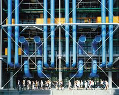 Next up in our high-tech architecture series we look at the Centre Pompidou in Paris by Richard Rogers and Renzo Piano. Sanaa Architecture, Le Corbusier Architecture, Site Analysis Architecture, Architecture Design, Hospital Architecture, Library Architecture, Watercolor Architecture, Architecture Wallpaper, Industrial Architecture