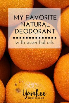 All you need are a few essential oils and a carrier oil to make this awesome, natural deodorant that really works!