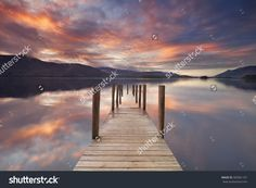 A Flooded Jetty In Derwent Water, Lake District, England. Photographed At…