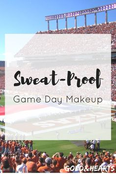 Sweat-Proof Game Day Makeup | Make your makeup last all tailgating and game day! College Hacks, College Fun, College Life, College Cheer, Day Makeup, Makeup Tips, Makeup You Need, Eyes Lips Face, Girl Life Hacks