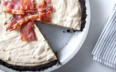 Delicious and decadent - Frozen Peanut Butter Pie with Candied Bacon
