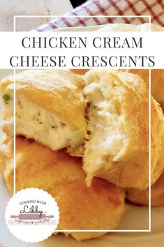 These Chicken Cream Cheese Crescents are comfort food at its best! They are the perfect appetizers for the Super Bowl or any other party you may have! They are simple to make under 7 ingredients and deliciously good! Chicken Appetizers, Quick Appetizers, Appetizers For Party, Appetizer Recipes, Chicken Recipes, Appetizers Superbowl, Party Snacks, Cream Cheese Recipes Dinner, Cheese Appetizers