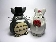 Totoro wedding cake topper.