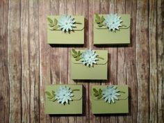 Schnelle Goodies in Farngrün, Olivgrün und Aquamarin mit Stanze So froh, Vogelstanze und Envelop punch board
