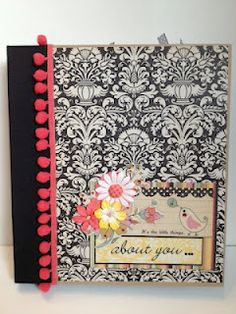 Love this pre made 8 1/2 x 11 scrapbook album using paper from Fancy pants.  By Traci Penrod