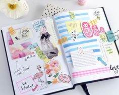 2016 Planner and diary design inspiration and vison board scapbooking pages by Craftsposure