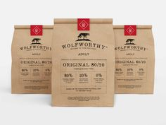 Wolfworthy Dog Food — The Dieline - Branding & Packaging Design