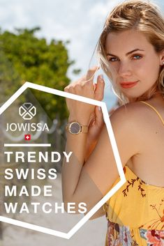 Classy ladies watches with chic, elegant style. Our Swiss Made womens watches by Jowissa will complement any outfit. Try one with a rose gold mesh band for a sophisticated look.