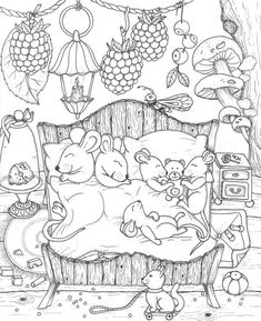 Cute Coloring Pages, Coloring For Kids, Printable Coloring Pages, Adult Coloring Pages, Coloring Sheets, Coloring Books, Colorful Drawings, Colorful Pictures, Illustration