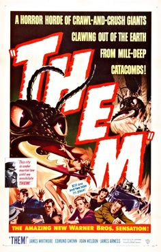"One of the first of the 1950s ""nuclear monster"" movies, and the first ""big bug"" film, Them! was nominated for an Oscar for its Special Effects and won a Golden Reel Award for Best Sound Editing. --wiki"