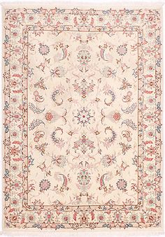 Tabriz DesignPersian Rug Hand Knotted Rugs, Woven Rug, Ivory Rugs, Tabriz Rug, Persian Rug, Colorful Rugs, Carpets, Knots, Maps