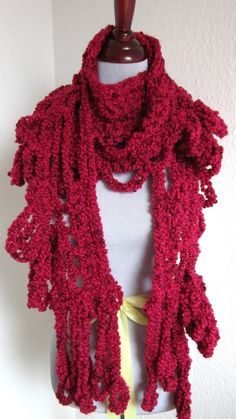 Red Octopus Scarf by ashtreemeadows on Etsy, $40.00