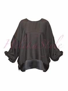 Khimar-poncho with sleeves  and jersey gusset for the chin area | HelikaStyle