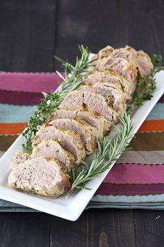 Herb, Garlic, and Dijon Pork Tenderloin