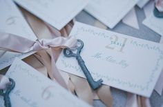 vintage key escort card-is this what you were thinking?