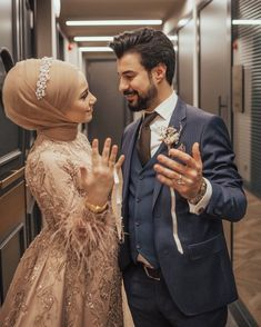 """Patience that everything you want to mind . ♥ """"Do not forget to say Mashallah"""" Verlobung 💍 💍 Hijabi Wedding, Muslimah Wedding Dress, Muslim Wedding Dresses, Muslim Brides, Muslim Women, Wedding Couple Poses Photography, Wedding Poses, Wedding Photoshoot, Wedding Couples"""