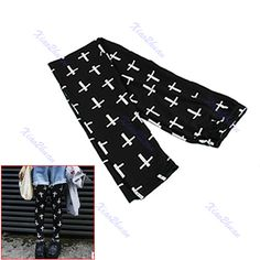€3.46 New Black Women's Sexy Fashion Galaxy Cross Printed Tights Pants Leggings FREE SHIPPING!