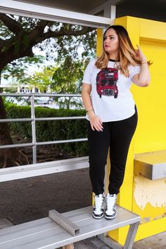 Sneakers & Joggers on the blog now! http://alicemarieh.com/joggers-sneakers/ #nike #nyandcompany #graphictee #thakoonforkohls #accessories #bracelets #anarchystreet #puravidabracelets