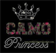Rhinestone Transfer Camo Princessdiy  By Ejbling On Etsy   Rhinestone Appliques Rhinestone Transfers