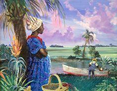 Gullah Art, African American Art by John Jones at Gallery Chuma, Charleston, SC