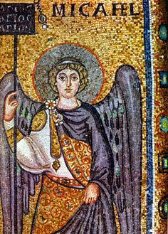 Venice-area mosaic - I love when the angels have colored wings