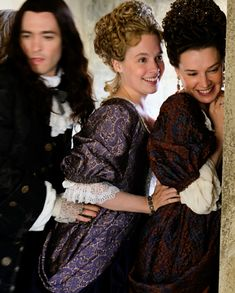 Versailles season 3 Behind the Scenes! Look how happy they look 😍 Versailles Bbc, Versailles Tv Series, Alexander Vlahos, Best Period Dramas, George Blagden, 17th Century Fashion, Rococo Fashion, Movie Memes, Actrices Hollywood