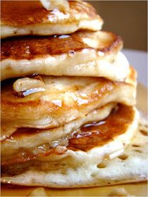 Banana buttermilk pancakes-these were really fluffy :)