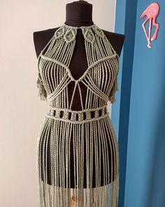 Boho Hippie, Bohemian Style, Macrame Dress, Boho Dress, Macrame Art, Festival Costumes, Festival Dress, Slow Fashion, Boho Fashion