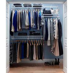 Shelftrack 4 Ft.- 6 Ft. Closet Organizer Kit