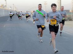 Army 10-miler in Afghanistan was a fun and healthy way for Soldiers to feel like they were home. (2010)