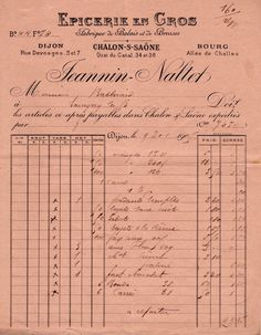 Vintage French Hotel Invoice JuanLesPins Antibes Le Grand Hotel
