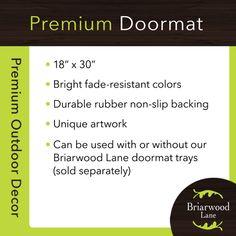 Briarwood Lane Fall Camper Primitive Doormat Welcome Indoor Outdoor 18 x 30
