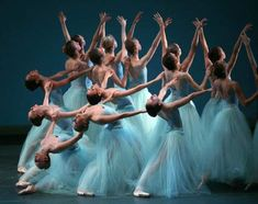 George Balanchine's Serenade  Fun fact of the day- this was choreographed on a group of students, tailored to their skill sets!