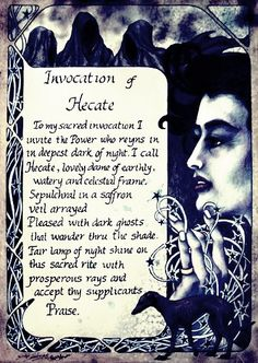 Book of Shadows: Invocation of Hecate.