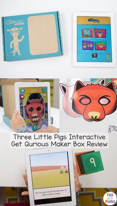 Kids love storytelling and storybook activities. The Three Little Pigs is a much loved story that preschoolers and elementary grade students love to re-enact. Three Little Pigs Story, Homeschool Apps, Sequencing Cards, Spy Party, Printable Activities For Kids, Preschool Literacy, Toddler Fun, Creative Teaching, Book Crafts