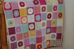 It's finished at last, Yippee!         I've spent the last week joining the squares together and tidying up the ends as I knew I wouldn't ...
