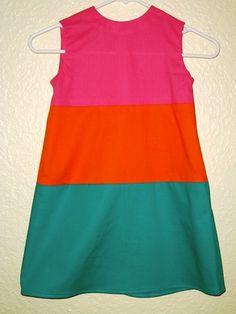 Color Block sundress - on @etsy via @babycenter $25