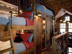 a ranch-cabin in Colorado : the kid's bedroom