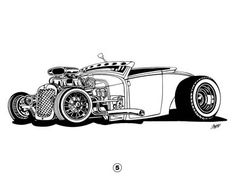 Ger Hot Rod Art | Art & Inspiration - H.a.m.b. Artists coloring book | The H.A.M.B.