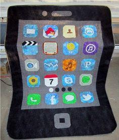 An iPhone quilt!
