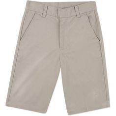 George Boys School Uniforms Wrinkle Resistant Prep Flat Front Shorts Size 18-22, Boy's, Size: 18, Beige