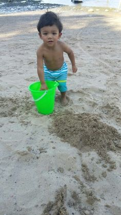 Niko playing in the sand.
