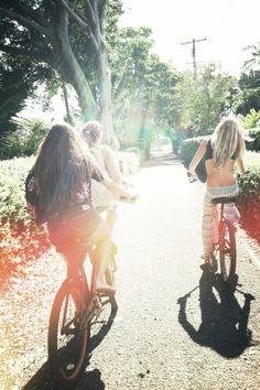 △ Summer bike rides