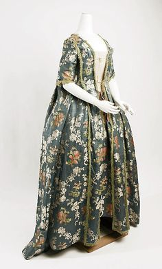 Dress (image 1) | Italian | 1750-75 | silk | Metropolitan Museum of Art | Accession Number: C.I.51.35a, b