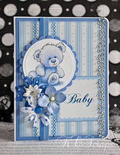 KOScraps handmade baby card.