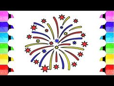 How to draw fireworks - Drawing fireworks step by step easy How To Draw Fireworks, Black Paper, Drawing Tools, Easy Drawings, Colored Pencils, Make It Yourself, Youtube, Colouring Pencils, Simple Drawings
