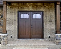 double front entry doors Double Front Door Design, Pictures, Remodel, Decor and Ideas - page 8 Double Front Entry Doors, Entry Door With Sidelights, Front Door Entrance, Exterior Front Doors, Door Entryway, House Front Door, Glass Front Door, Glass Doors, Front Porch